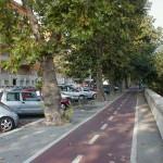Una pista ciclabile a Roma